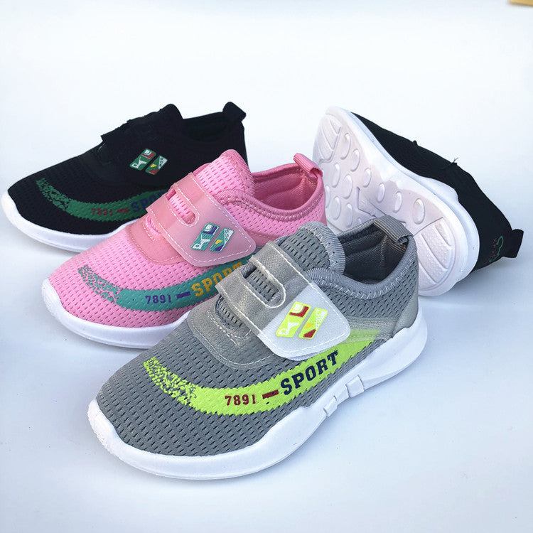 Blast Autumn new Children's net cloth sneakers male and female children's shoes casual light wearable travel p5119Buy mate