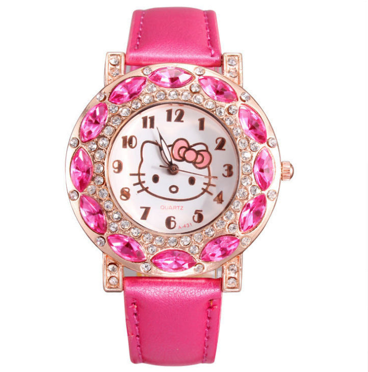 Children's watches, fashion belts, diamonds, English girls 'watches. p6014Buy mate