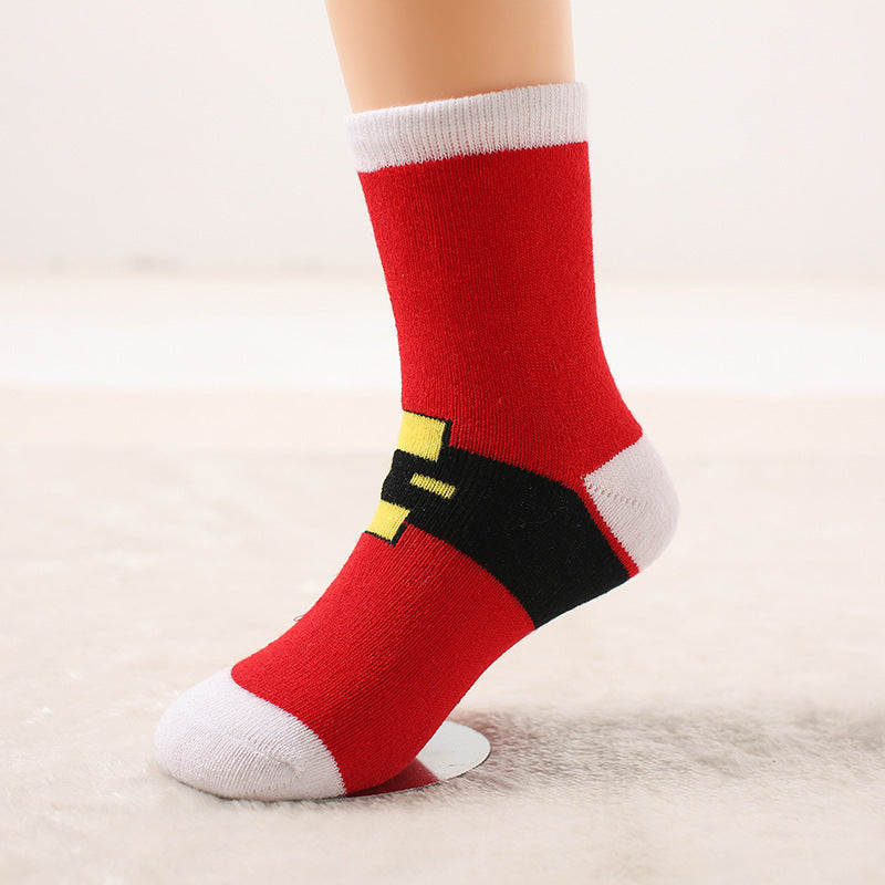 Autumn and winter wool ring thickened baby socks Autumn and winter children socks Christmas socks gift socks P00375 / 7-10ageBuy mate