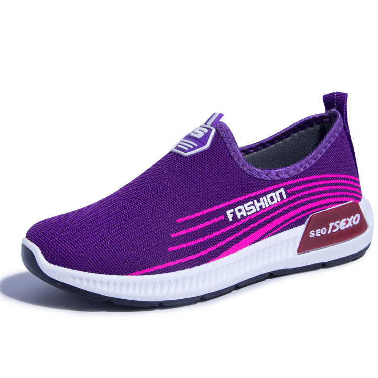 Women's shoes with one foot on the lower side p412441 / purpleBuy mate