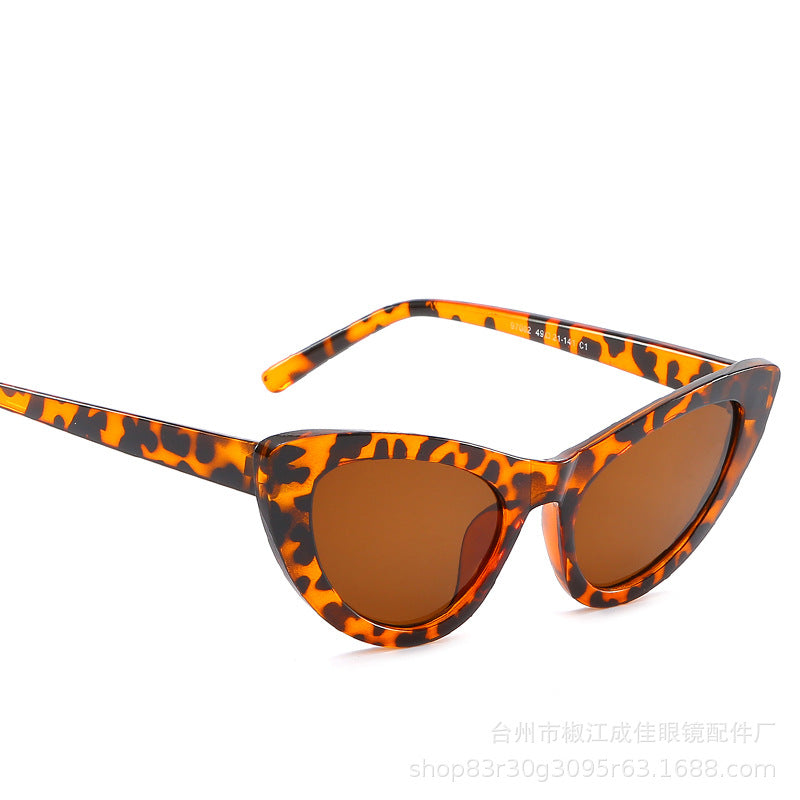 European and American retro large-frame cat-eye Sunglasses p6102