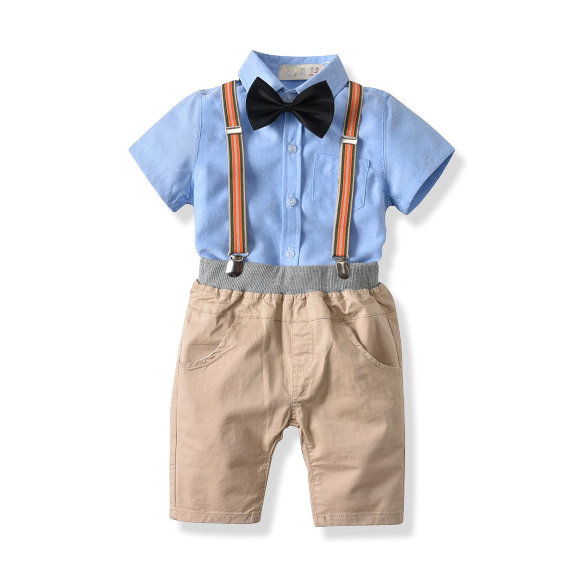children's clothing summer pure cotton boy short-sleeved shirt shorts