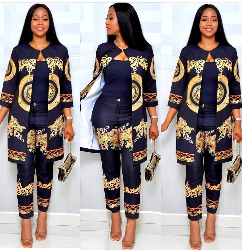 Sources of African Women's Wear Atmospheric Fashion Digital Printed