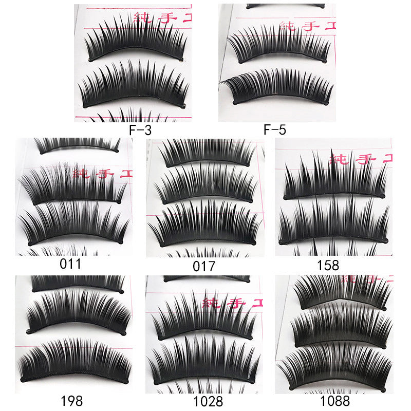 10 pairs of natural dense false eyelashes p3981Buy mate