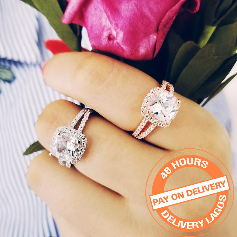 925 Sterling Silver Ring Finger for Women Jewelry Pure Wedding Engagement R1507S