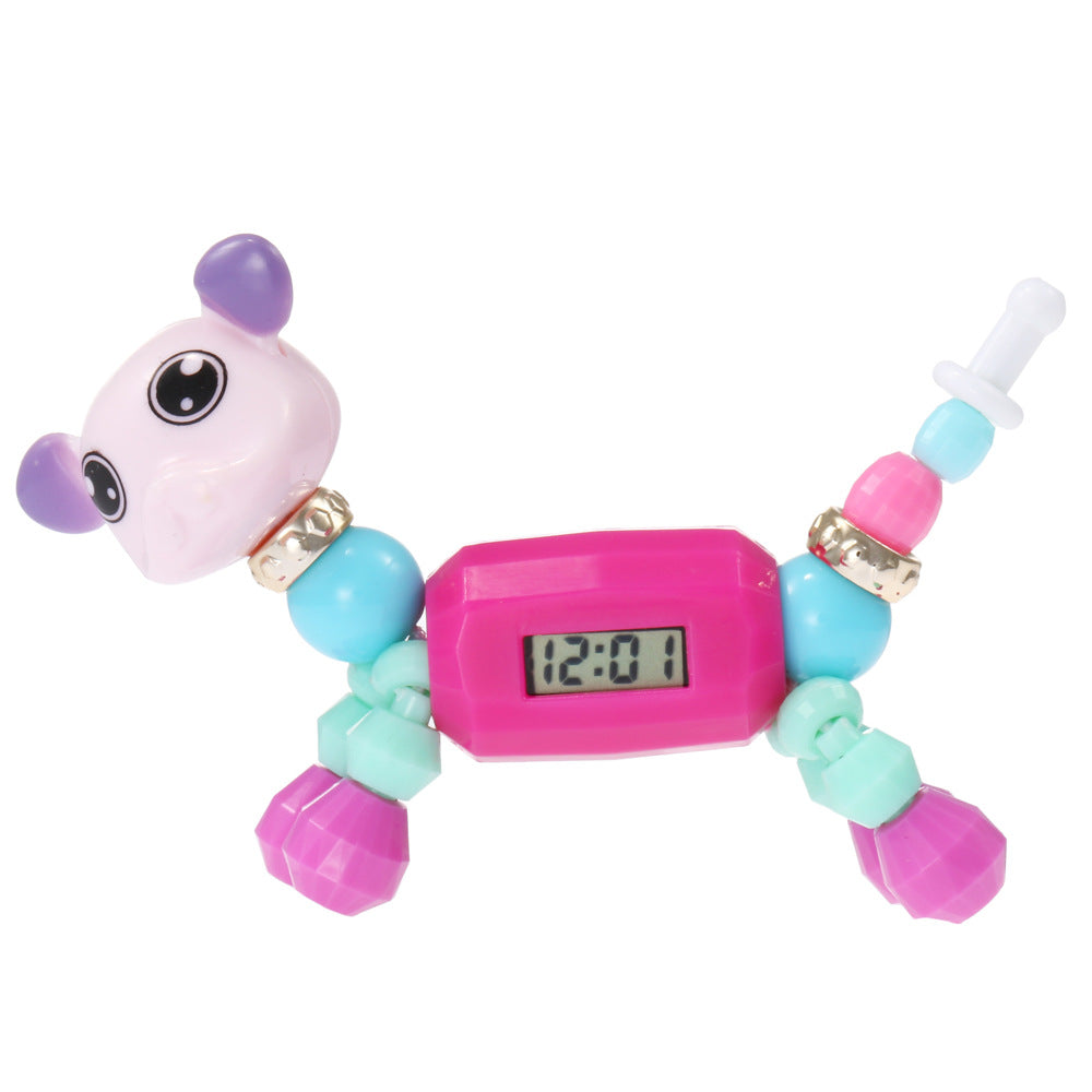 Cartoon animal magic, children's puzzle toy, electronic watch p6015Buy mate
