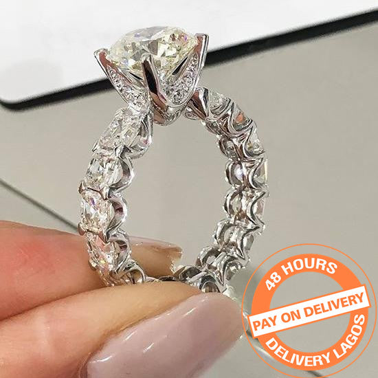 925 sterling silver fashion luxury wedding ring engagement finger ring wholesale jewelry R4366SBuy mate