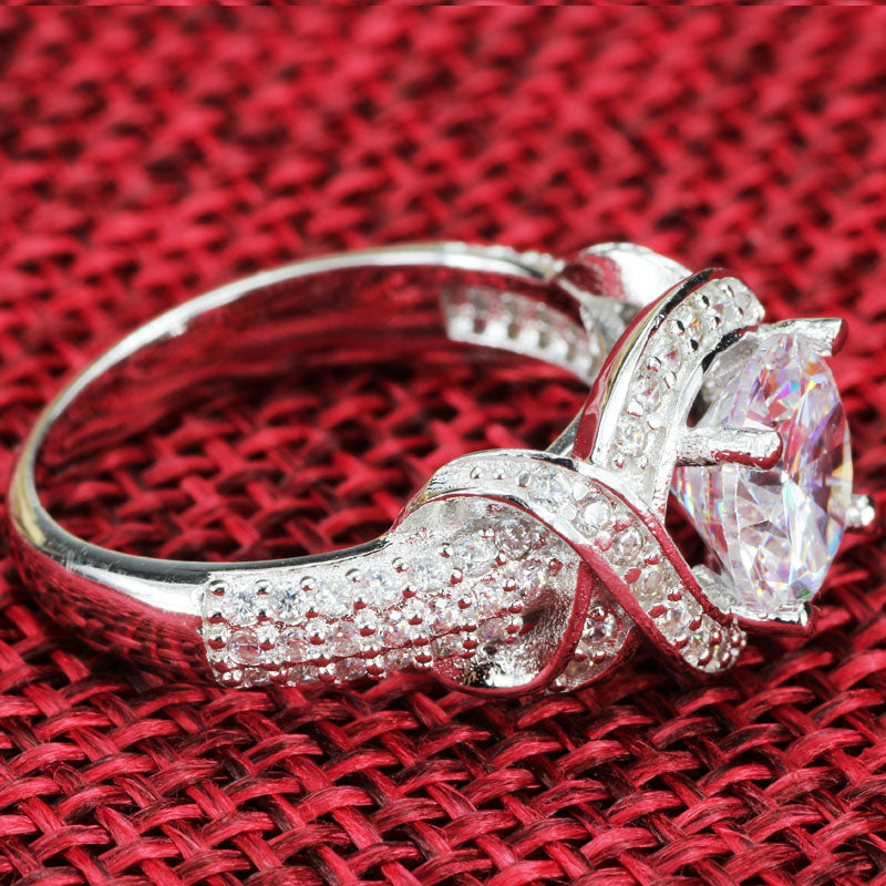 R4419S -  TWLLE Jewelry-- Affordable Brand for Sterling Silver Jewelry - Affordable Sterling Silver Wedding Engagement Ring in Nigeria