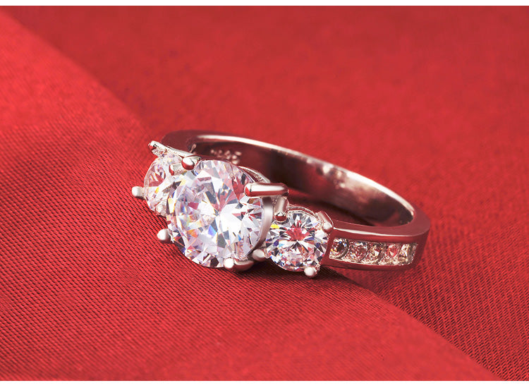 R1597S -  TWLLE Jewelry - Affordable Sterling Silver Wedding Engagement Ring in Nigeria