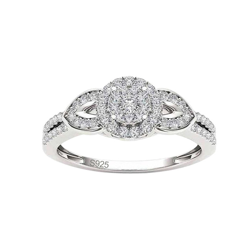 R1954S -  TWLLE Jewelry-- Affordable Brand for Sterling Silver Jewelry - Affordable Sterling Silver Wedding Engagement Ring in Nigeria