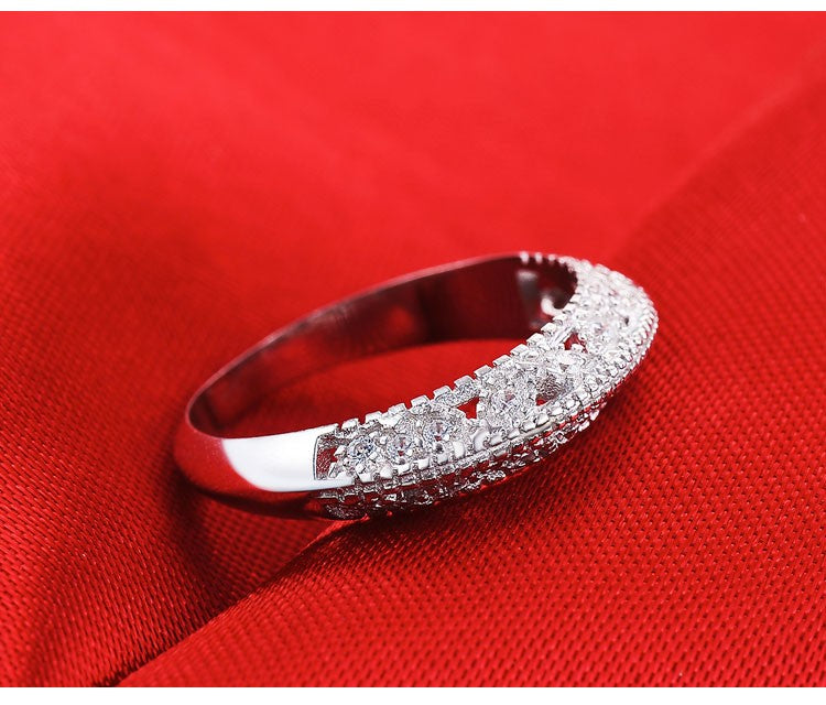 R1815S -  TWLLE Jewelry - Affordable Sterling Silver Wedding Engagement Ring in Nigeria