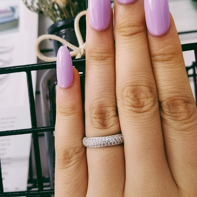 925 Sterling Silver Ring Set Wedding Ring Engagement Fashion Ring for bridal women moonso jewelry R3400as