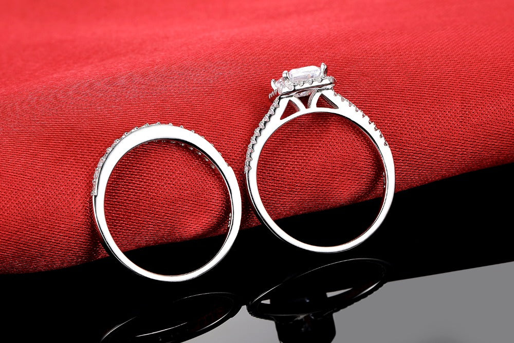 R4212S -  TWLLE Jewelry - Affordable Sterling Silver Wedding Engagement Ring in Nigeria