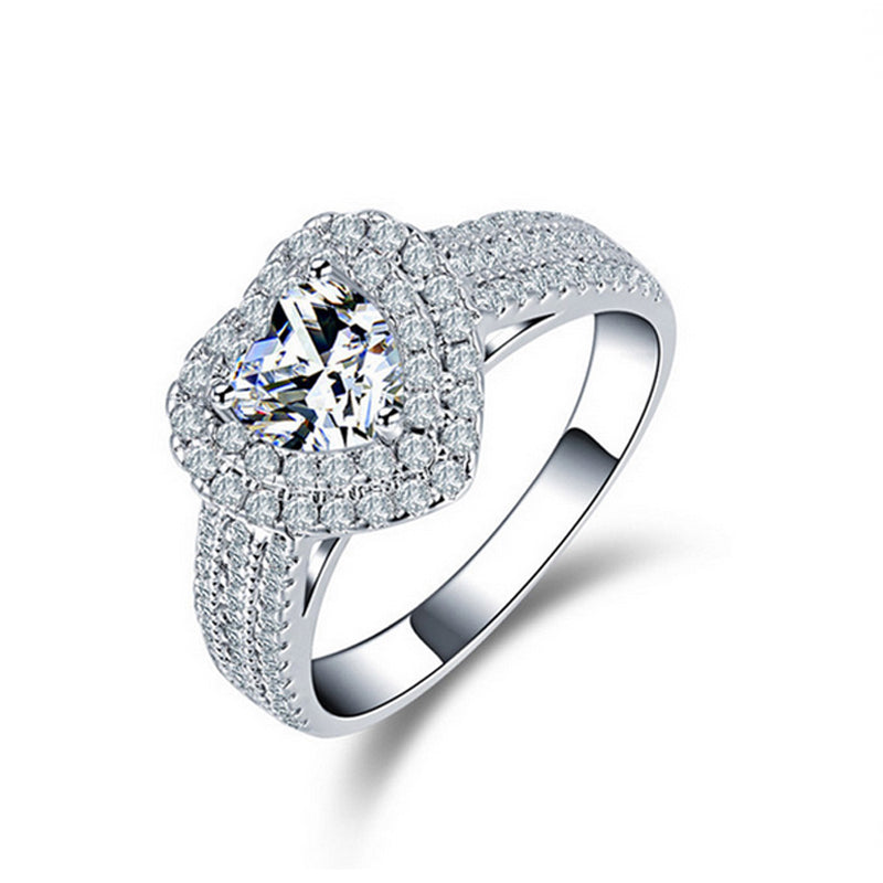 R1505S -  TWLLE Jewelry-- Affordable Brand for Sterling Silver Jewelry - Affordable Sterling Silver Wedding Engagement Ring in Nigeria