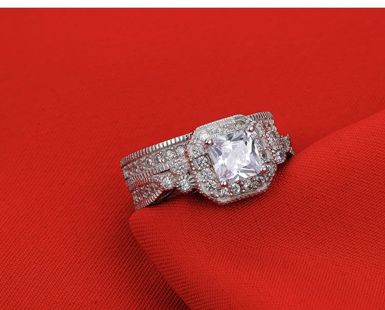 R3408S -  TWLLE Jewelry - Affordable Sterling Silver Wedding Engagement Ring in Nigeria