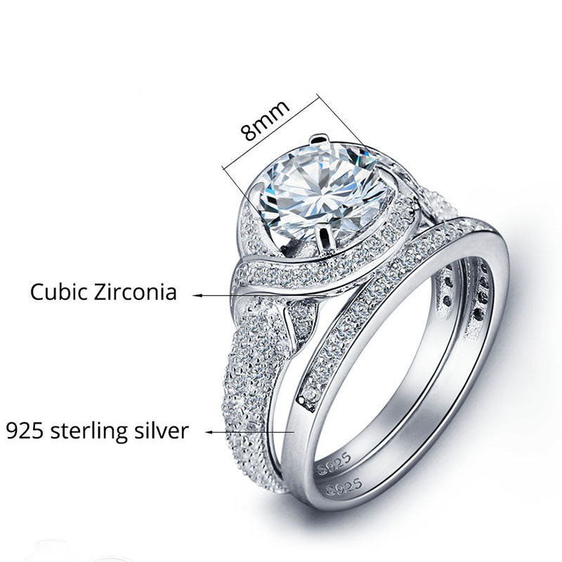 2017 new fashion 100% S925 Sterling Silver Rings women wedding engagement Luxury Simulated ring wholesale R4320S