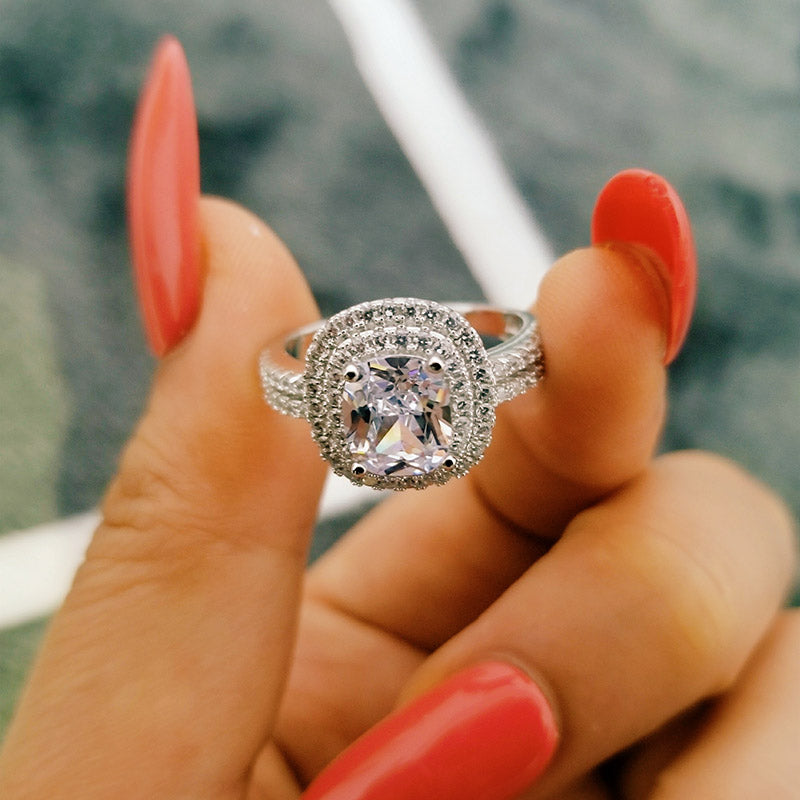 Original solid fashion latest design sterling silver AAA zirconia women jewelry engagement ring R4586SBuy mate