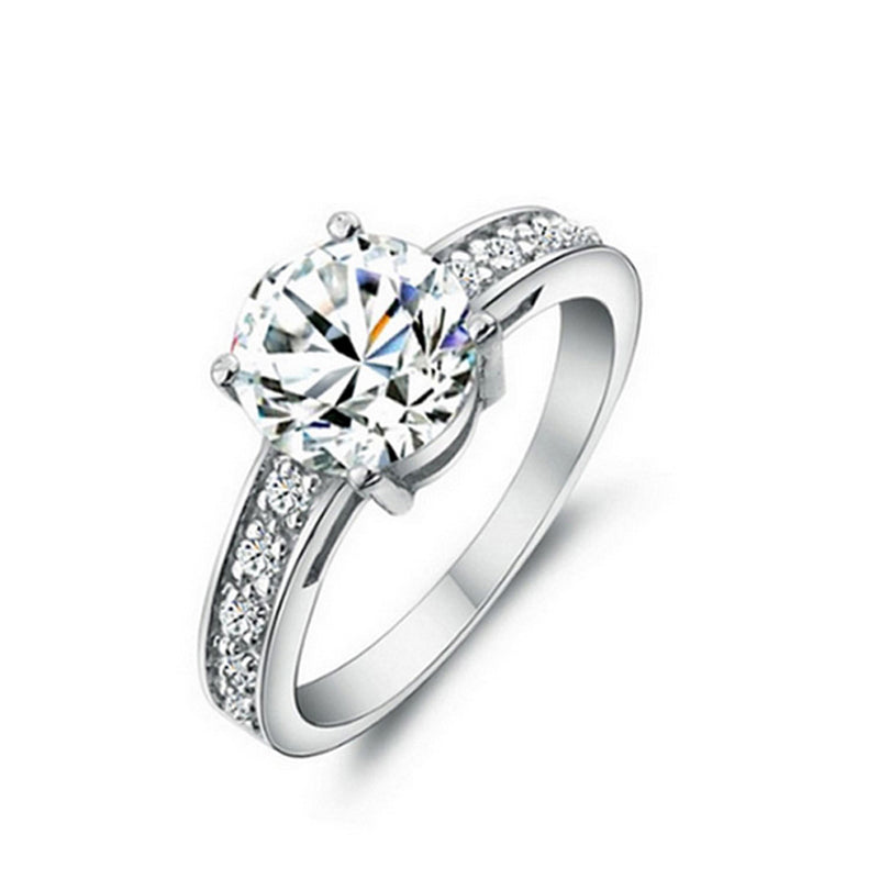 R743S -  TWLLE Jewelry-- Affordable Brand for Sterling Silver Jewelry - Affordable Sterling Silver Wedding Engagement Ring in Nigeria