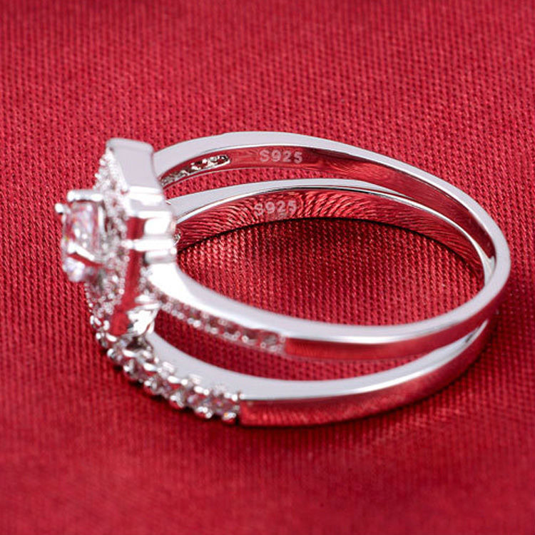 R780S -  TWLLE Jewelry-- Affordable Brand for Sterling Silver Jewelry - Affordable Sterling Silver Wedding Engagement Ring in Nigeria