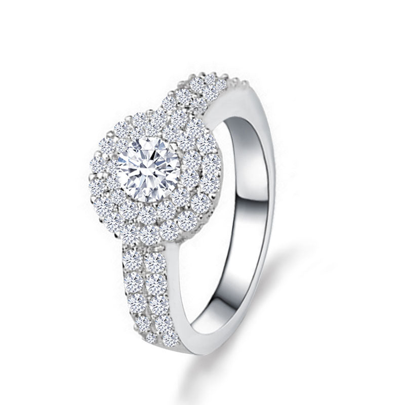 R783S -  TWLLE Jewelry-- Affordable Brand for Sterling Silver Jewelry - Affordable Sterling Silver Wedding Engagement Ring in Nigeria