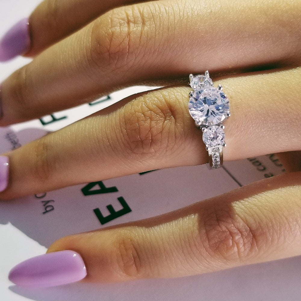 925 Sterling Silver Engagement Rings Fashion Style R1597S