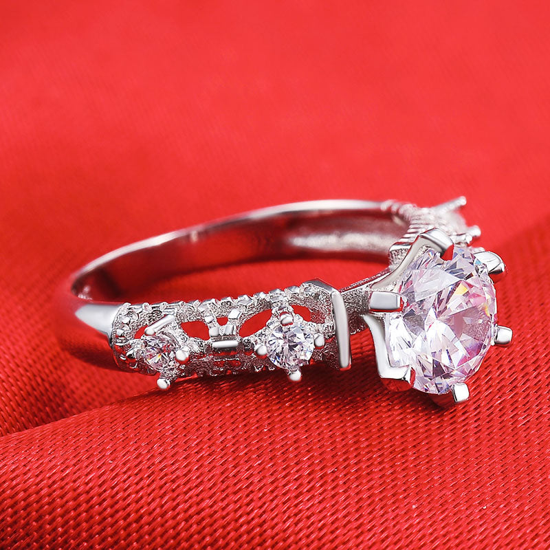 R1942S -  TWLLE Jewelry-- Affordable Brand for Sterling Silver Jewelry - Affordable Sterling Silver Wedding Engagement Ring in Nigeria
