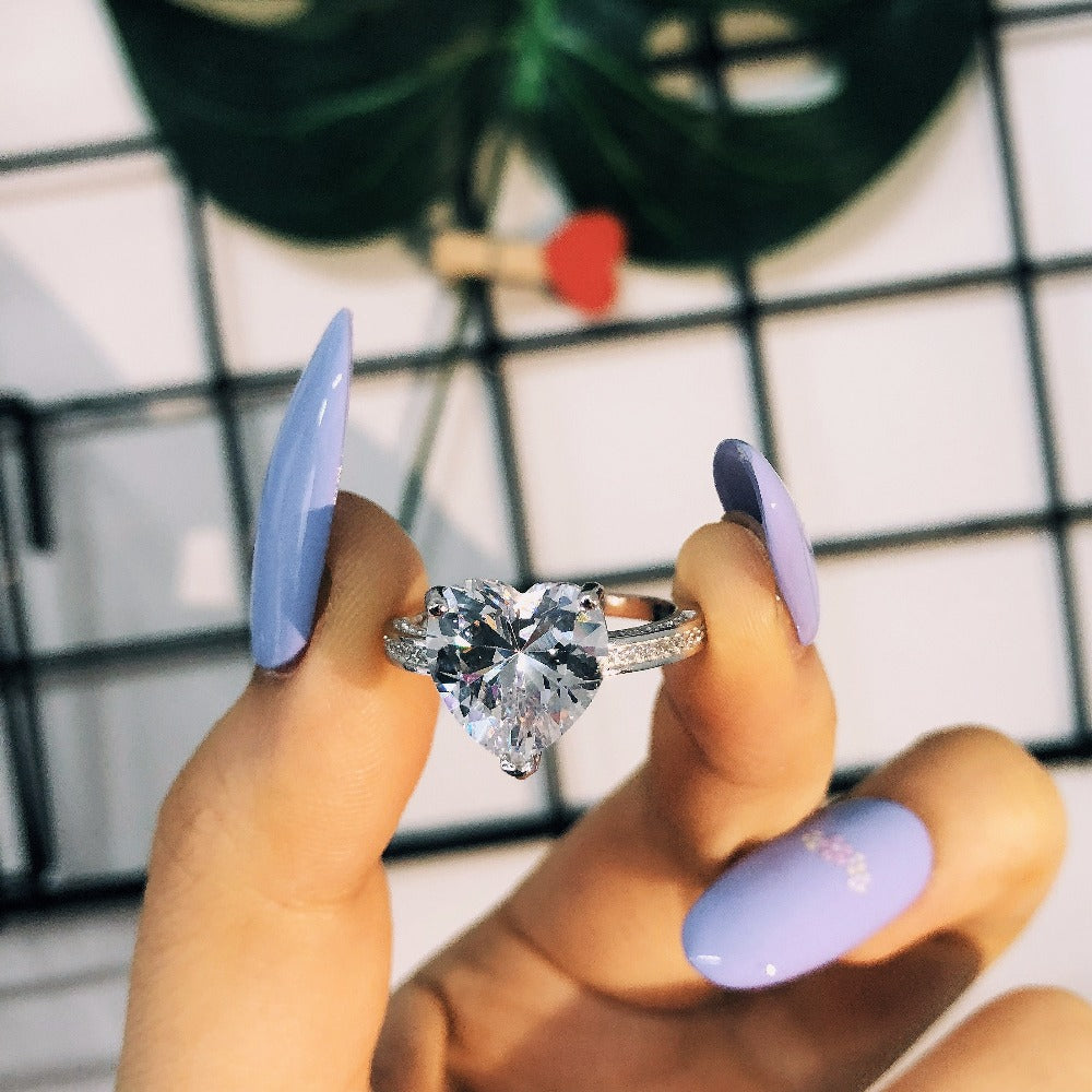 2018 fashion 925 sterling silver AAA zirconia Women Wedding Engagement