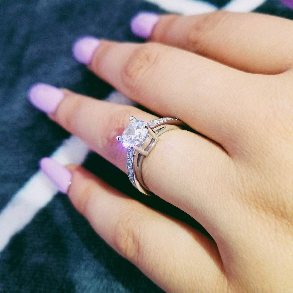 925 Sterling Silver Rings For Women High Quality Rings Women Engagement Rings anel aneis R743S