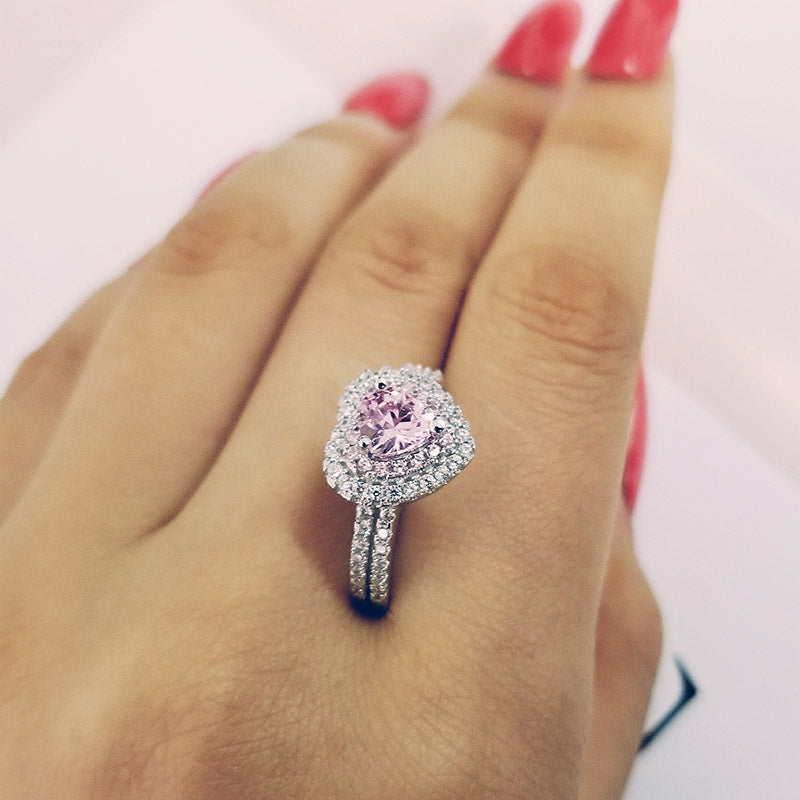 real 925 Sterling Silver Ring Finger heart shape promise fashion Ring for girl love Women Jewelry Wedding Engagement R4599SBuy mate