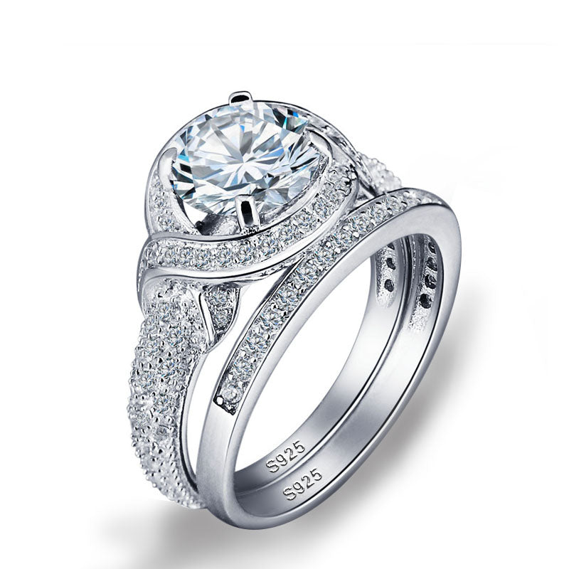 R4320S -  TWLLE Jewelry - Affordable Sterling Silver Wedding Engagement Ring in Nigeria