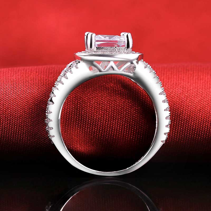 R1910S -  TWLLE Jewelry-- Affordable Brand for Sterling Silver Jewelry - Affordable Sterling Silver Wedding Engagement Ring in Nigeria