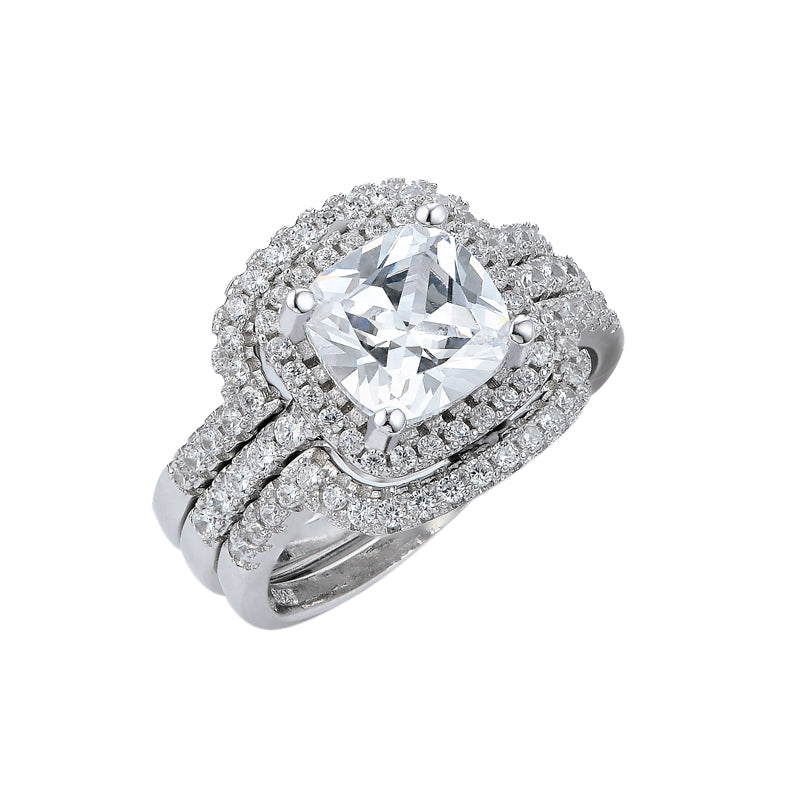 R4308S -  TWLLE Jewelry - Affordable Sterling Silver Wedding Engagement Ring in Nigeria