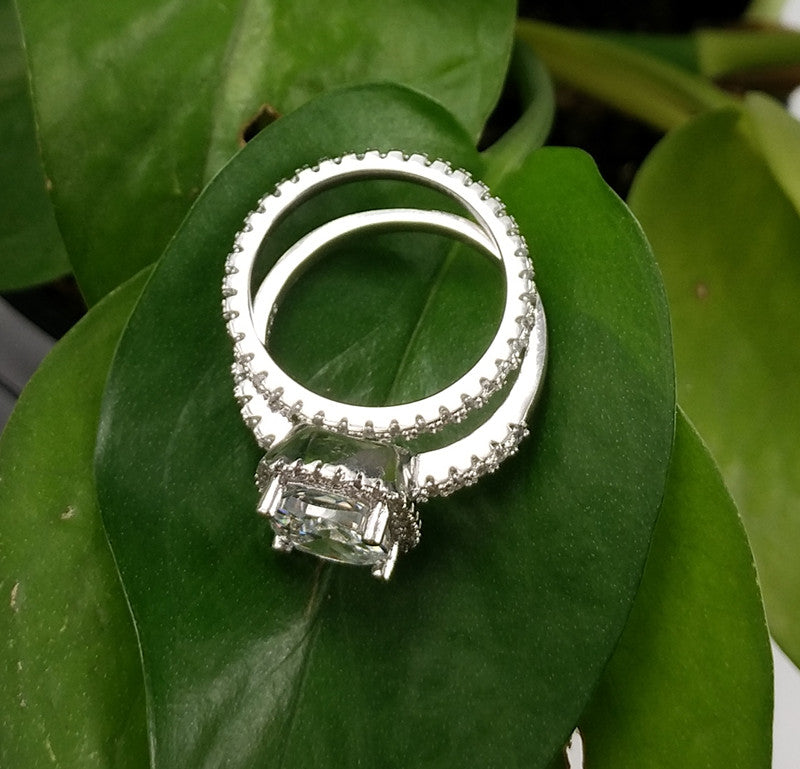 R1090S -  TWLLE Jewelry - Affordable Sterling Silver Wedding Engagement Ring in Nigeria