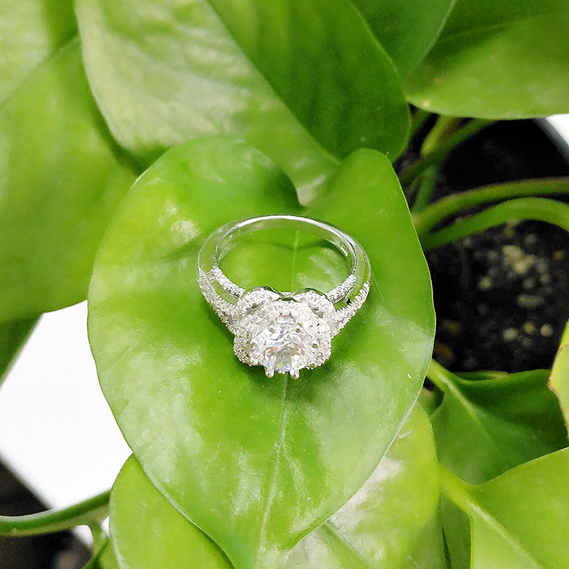 R4328S -  TWLLE Jewelry - Affordable Sterling Silver Wedding Engagement Ring in Nigeria