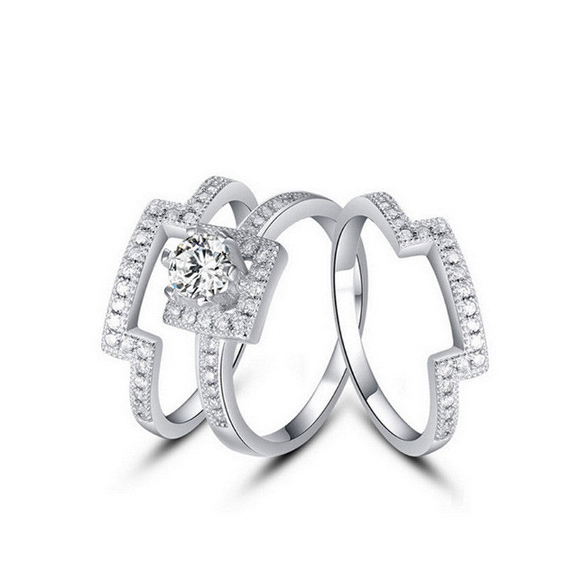 R1431S -  TWLLE Jewelry-- USA Brand for Silver Jewelry - Affordable Sterling Silver Wedding Engagement Ring in Nigeria