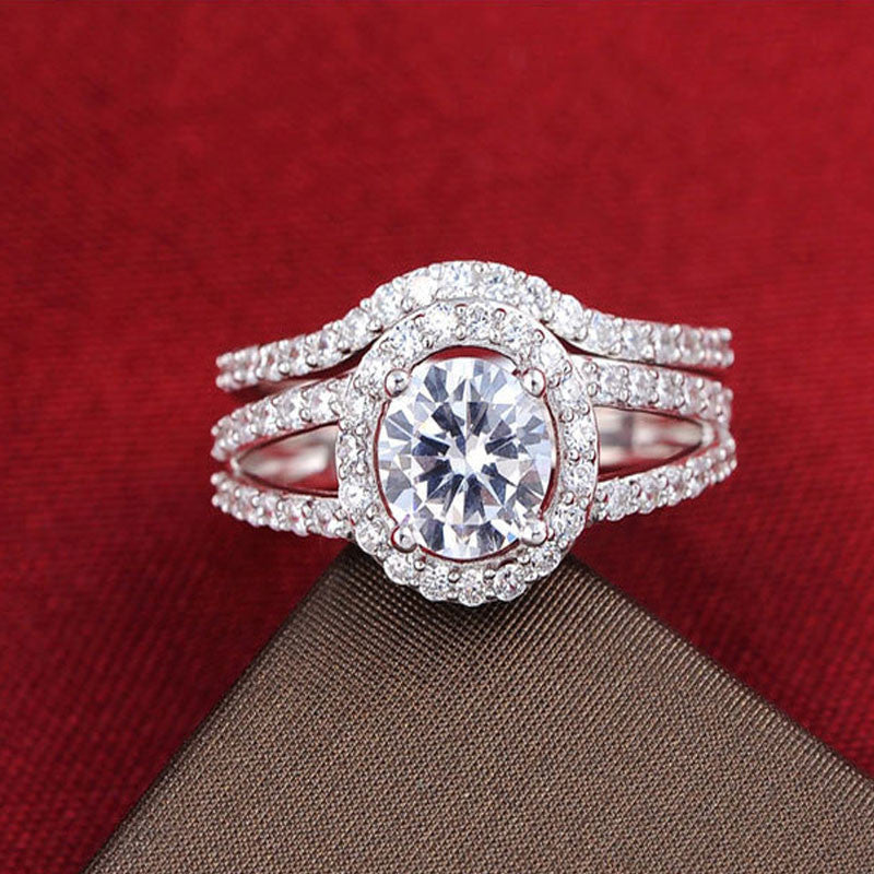 R235S -  TWLLE Jewelry - Affordable Sterling Silver Wedding Engagement Ring in Nigeria