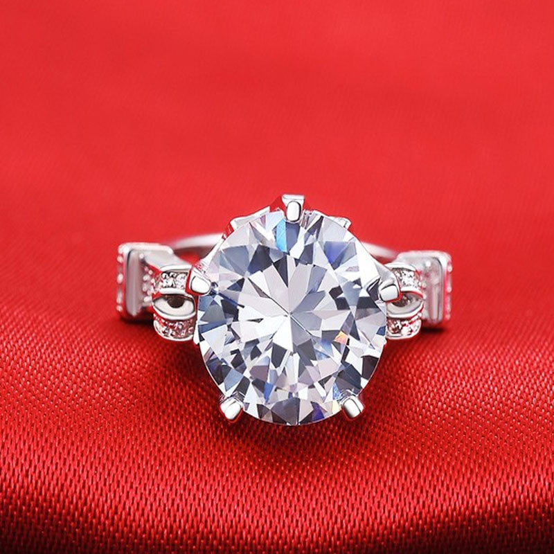 R1805S -  TWLLE Jewelry - Affordable Sterling Silver Wedding Engagement Ring in Nigeria