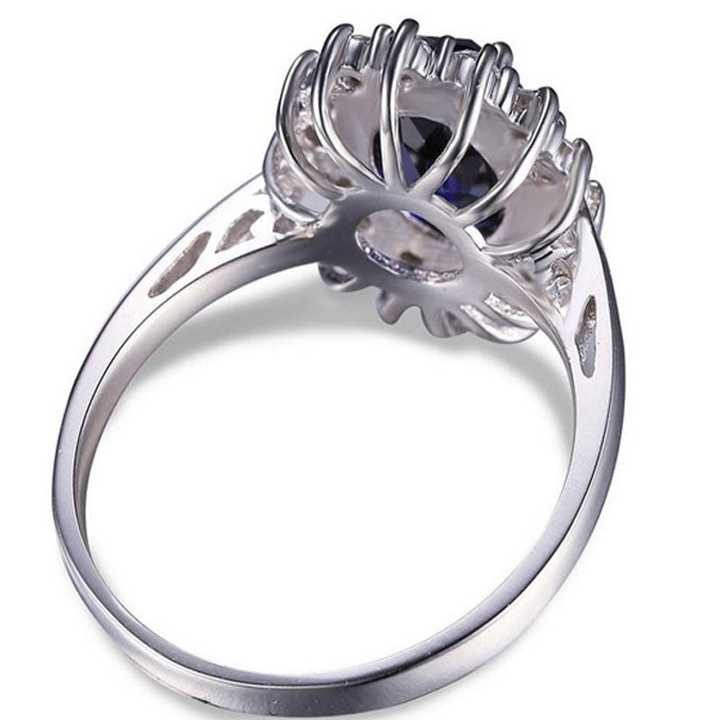 R2738S -  TWLLE Jewelry - Affordable Sterling Silver Wedding Engagement Ring in Nigeria
