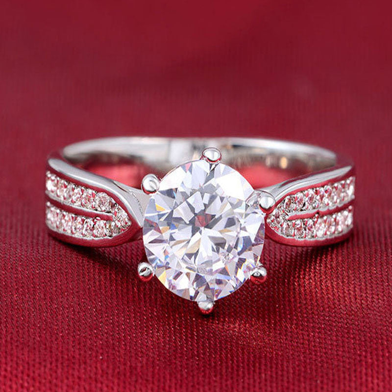 R750S -  TWLLE Jewelry - Affordable Sterling Silver Wedding Engagement Ring in Nigeria