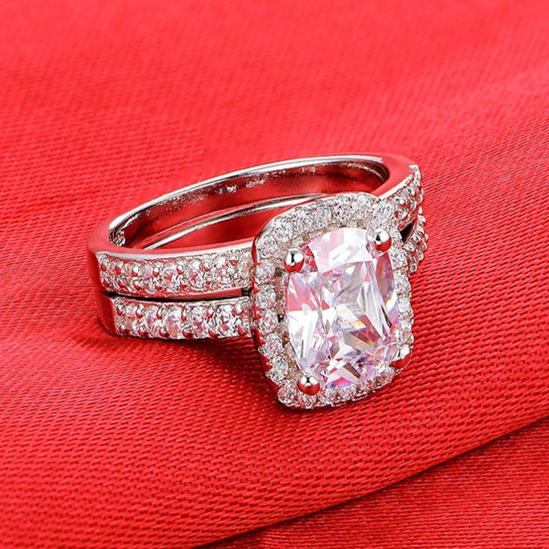 R4211S -  TWLLE Jewelry - Affordable Sterling Silver Wedding Engagement Ring in Nigeria