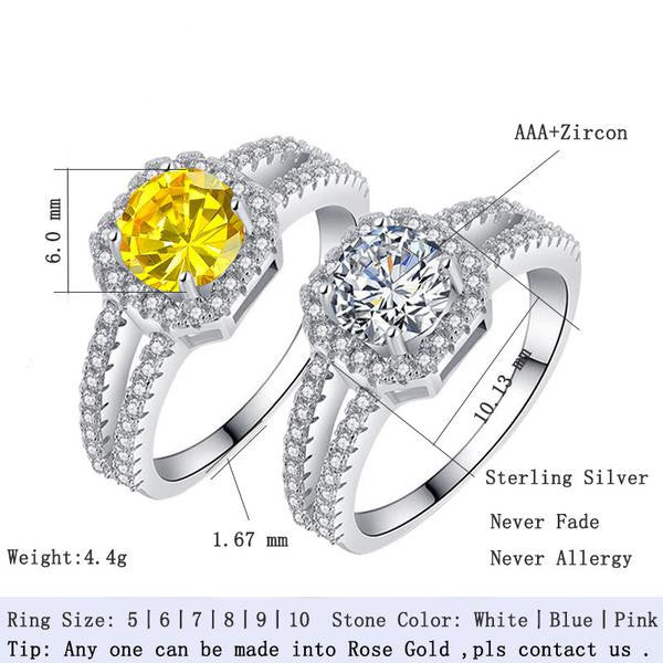 R1104S -  TWLLE Jewelry - Affordable Sterling Silver Wedding Engagement Ring in Nigeria
