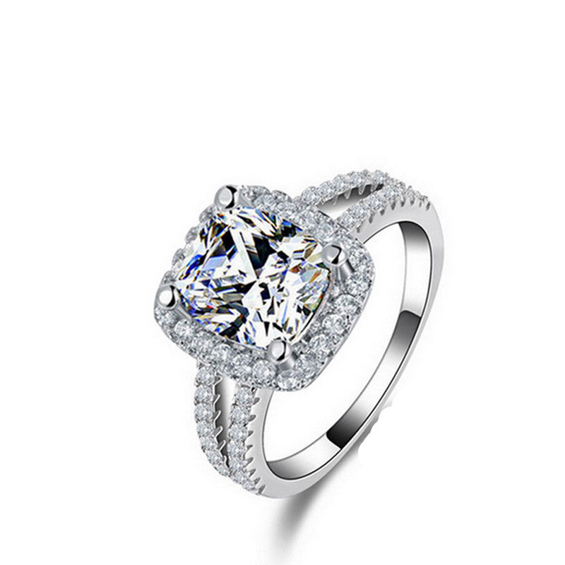 R1507S -  TWLLE Jewelry - Affordable Sterling Silver Wedding Engagement Ring in Nigeria