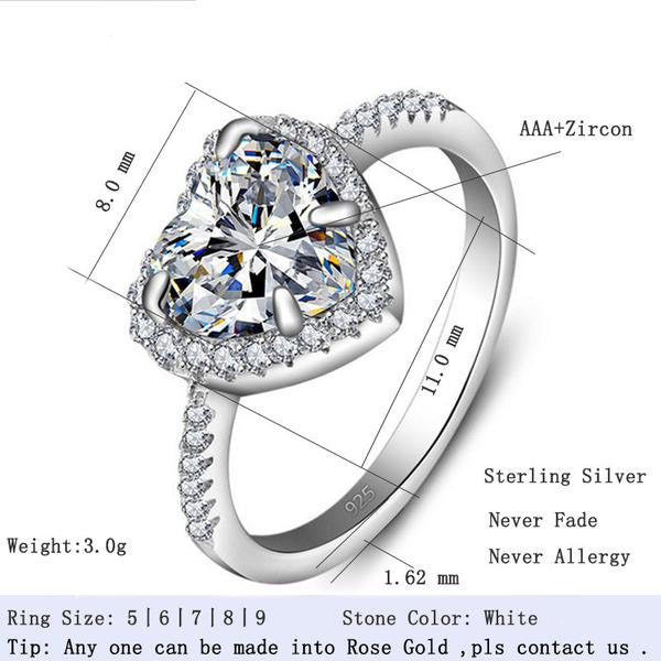 R1707S -  TWLLE Jewelry - Affordable Sterling Silver Wedding Engagement Ring in Nigeria