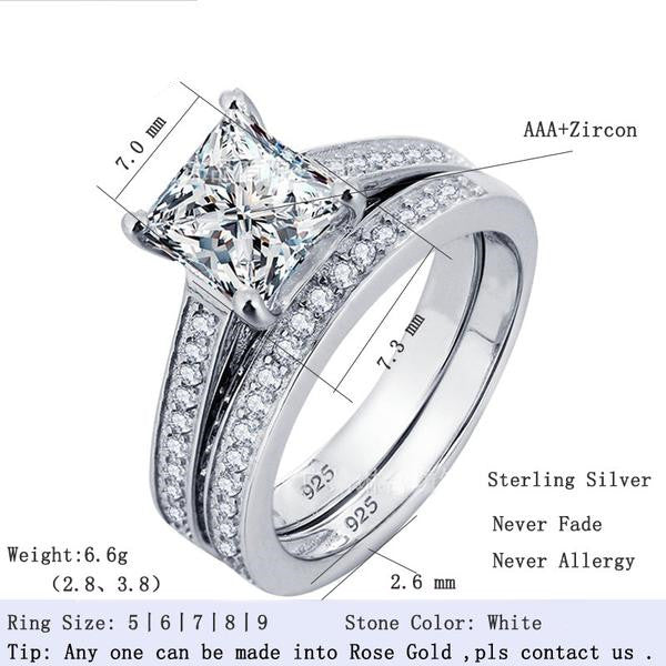 R1944S -  TWLLE Jewelry - Affordable Sterling Silver Wedding Engagement Ring in Nigeria