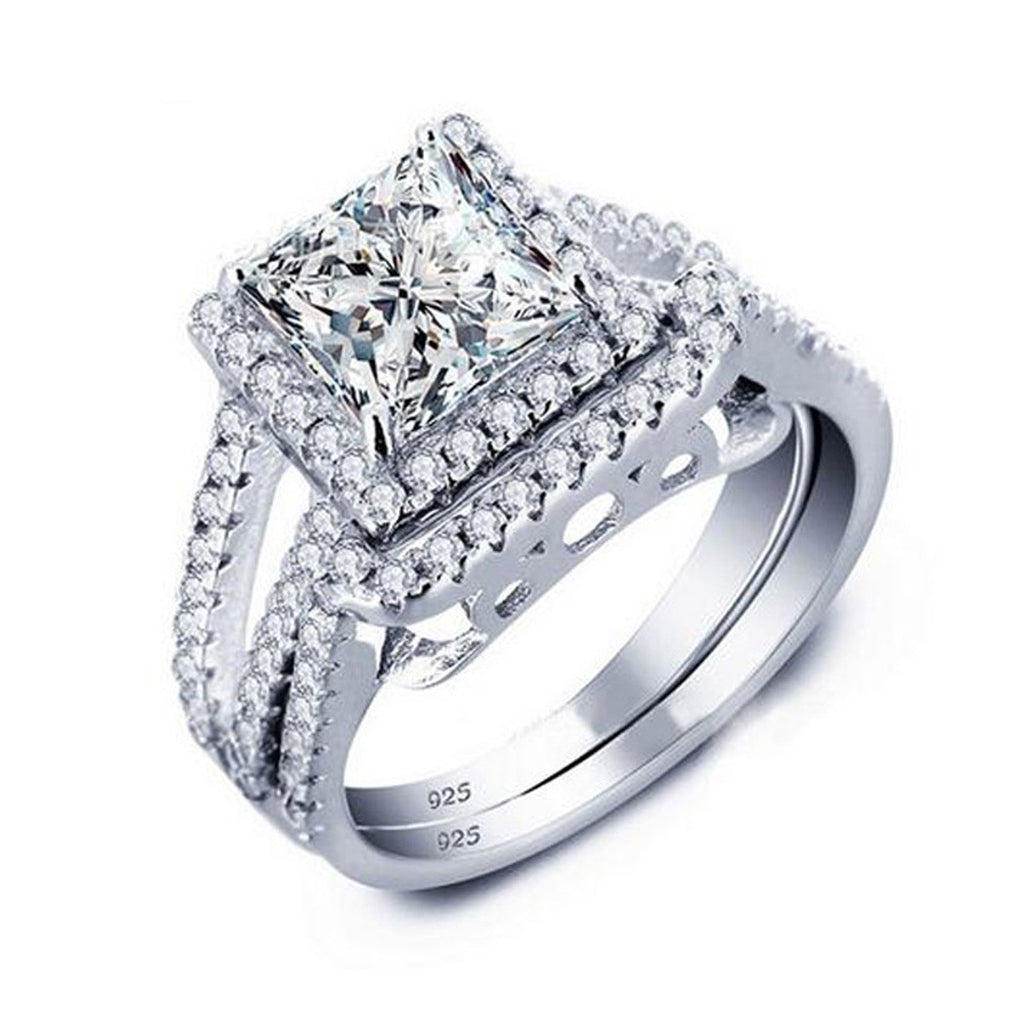R1952S -  TWLLE Jewelry - Affordable Sterling Silver Wedding Engagement Ring in Nigeria