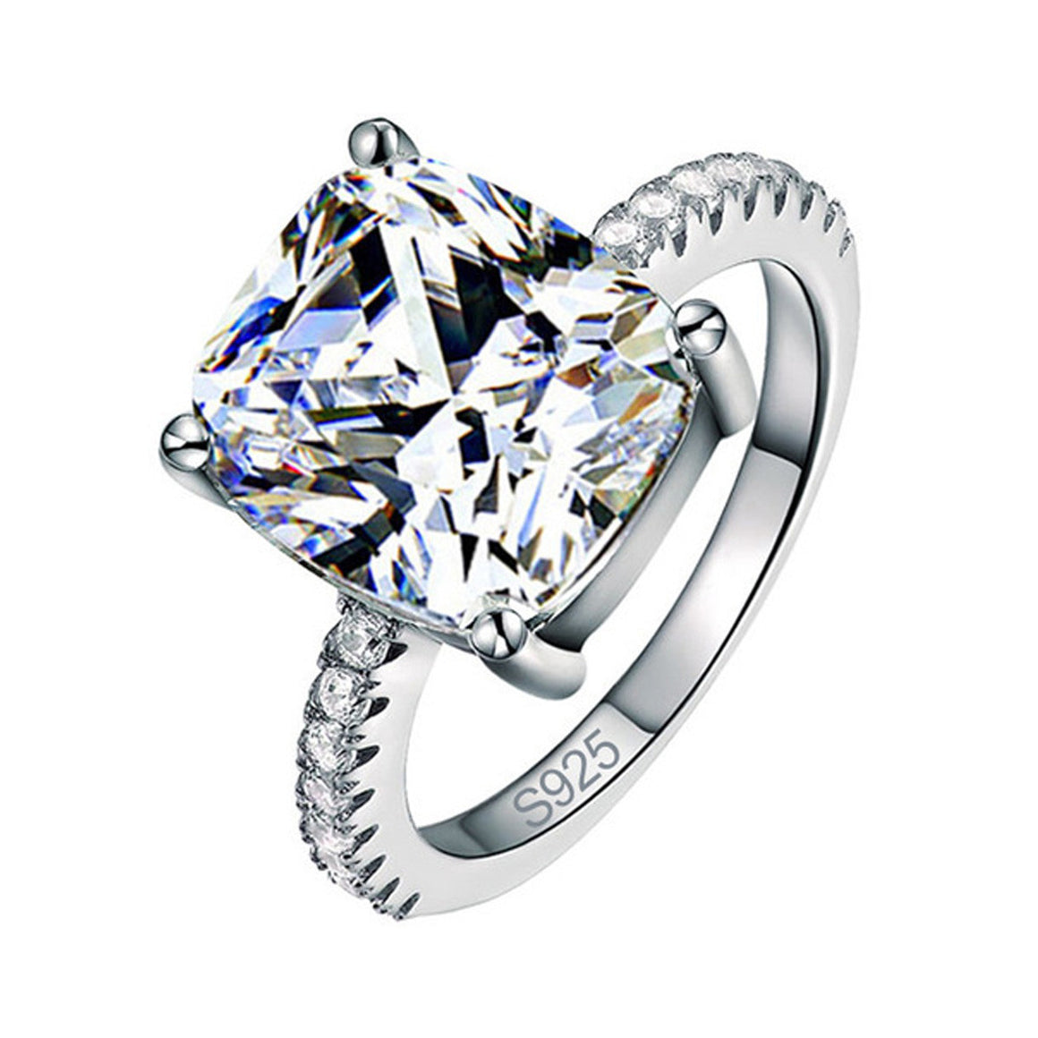 R1953S -  TWLLE Jewelry - Affordable Sterling Silver Wedding Engagement Ring in Nigeria