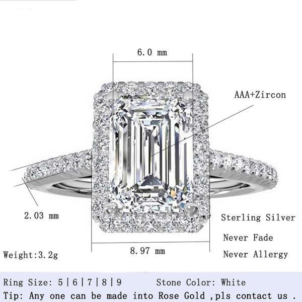 R1997S -  TWLLE Jewelry - Affordable Sterling Silver Wedding Engagement Ring in Nigeria