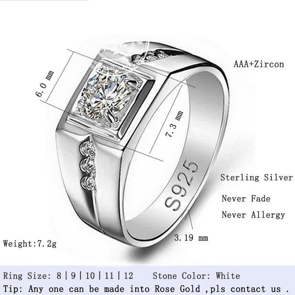 R207S -  TWLLE Jewelry-- Affordable Brand for Sterling Silver Jewelry - Affordable Sterling Silver Wedding Engagement Ring in Nigeria