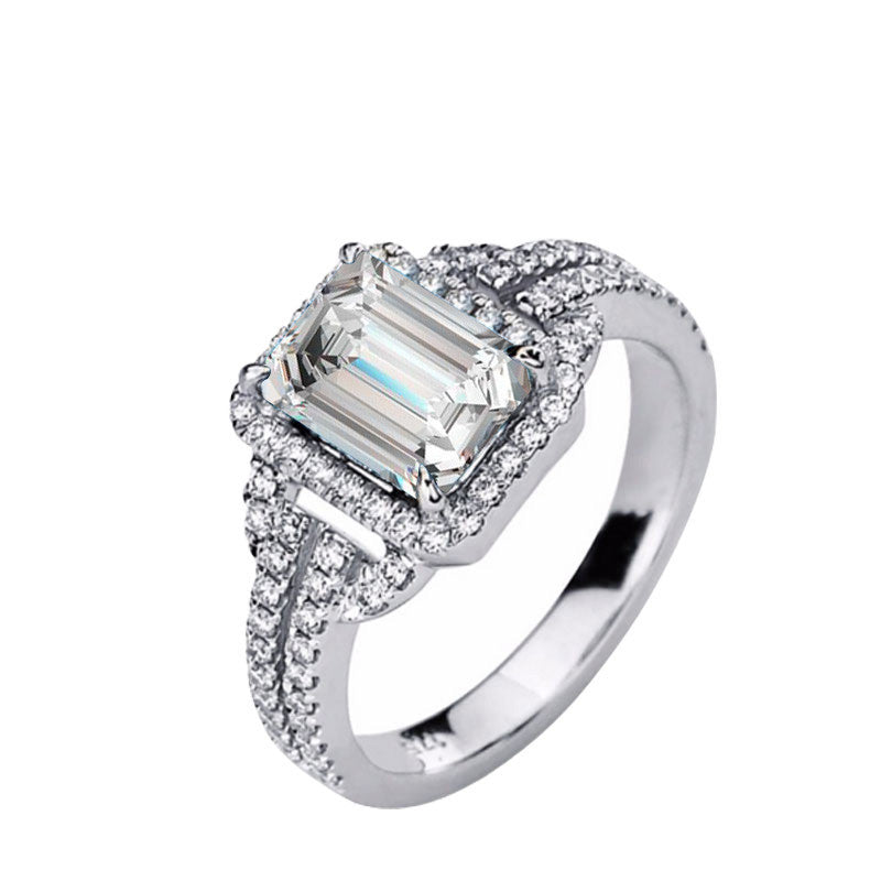 R2101S -  TWLLE Jewelry - Affordable Sterling Silver Wedding Engagement Ring in Nigeria