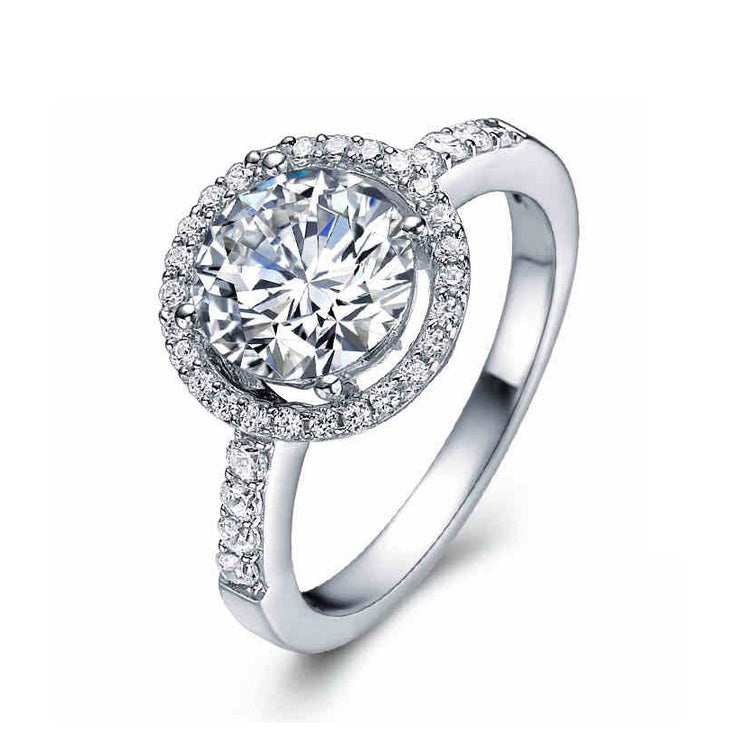 R210S -  TWLLE Jewelry - Affordable Sterling Silver Wedding Engagement Ring in Nigeria